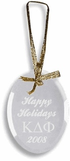 Kappa Delta Phi Glass Ornament