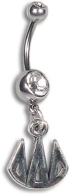 Charm Letters Belly Button Ring