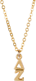 Delta Zeta 22 k Yellow Gold Plated Lavaliere Necklace - ON SALE!