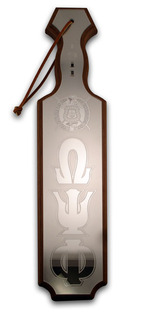 Omega Psi Phi Paddles Mirrored