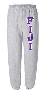 FIJI Fraternity Lettered Sweatpants