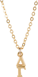 Delta Gamma 22 k Yellow Gold Plated Lavaliere Necklace - ON SALE!