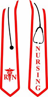 BRN  Nursing Graduation Stole with Stethoscope