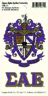 Sigma Alpha Epsilon Crest - Shield Decal