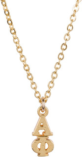 Alpha Phi 22 k Yellow Gold Plated Lavaliere Necklace - ON SALE!
