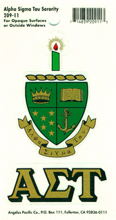Alpha Sigma Tau Crest - Shield decal