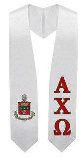 Alpha Chi Omega Super Crest - Shield Graduation Stole