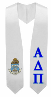 Alpha Delta Pi Super Crest - Shield Graduation Stole