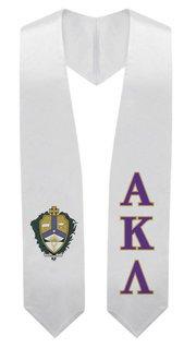 Alpha Kappa Lambda Super Crest - Shield Graduation Stole