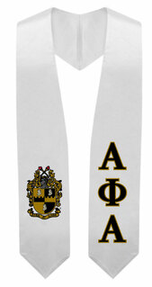 Alpha Phi Alpha Super Crest - Shield Graduation Stole