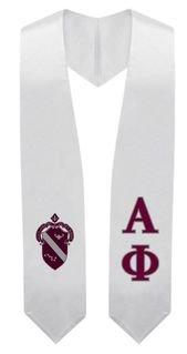 Alpha Phi Super Crest - Shield Graduation Stole