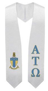 Alpha Tau Omega Super Crest - Shield Graduation Stole