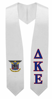 Delta Kappa Epsilon Super Crest - Shield Graduation Stole