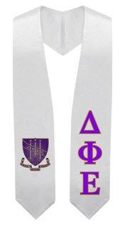Delta Phi Epsilon Super Crest - Shield Graduation Stole