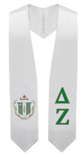 Delta Zeta Super Crest - Shield Graduation Stole