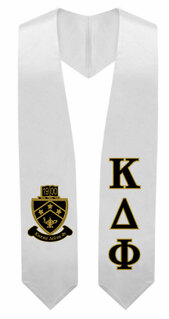 Kappa Delta Phi Super Crest - Shield Graduation Stole