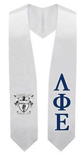 Lambda Phi Epsilon Super Crest - Shield Graduation Stole