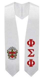 Phi Sigma Phi Super Crest - Shield Graduation Stole