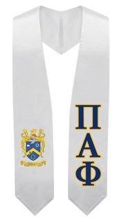 Pi Alpha Phi Super Crest - Shield Graduation Stole