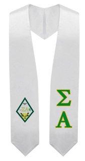 Sigma Alpha Super Crest - Shield Graduation Stole
