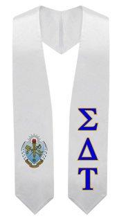 Sigma Delta Tau Super Crest - Shield Graduation Stole