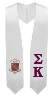 Sigma Kappa Super Crest - Shield Graduation Stole