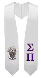 Sigma Pi Super Crest - Shield Graduation Stole