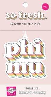 Phi Mu Retro Air Freshener (2 pack)