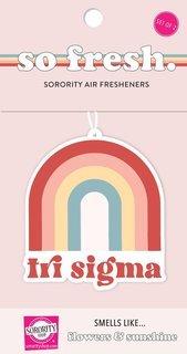 Sigma Sigma Sigma Rainbow Retro Air Freshener - Flowers & Sunshine Scent
