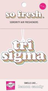 Sigma Sigma Sigma Retro Air Freshener (2 pack)