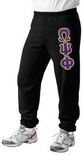 Omega Psi Phi Lettered Sweatpants