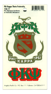 Phi Kappa Psi Crest - Shield Decal