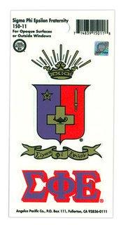 Sigma Phi Epsilon Crest - Shield Decal