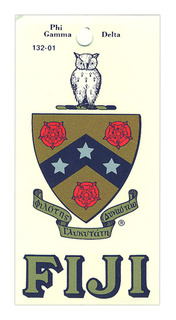 FIJI Fraternity Crest - Shield Decal