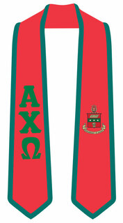 DISCOUNT-Alpha Chi Omega Greek 2 Tone Lettered Graduation Sash Stole
