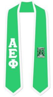 DISCOUNT-Alpha Epsilon Phi Greek 2 Tone Lettered Graduation Sash Stole
