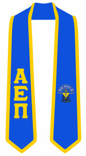 DISCOUNT-Alpha Epsilon Pi Greek 2 Tone Lettered Graduation Sash Stole