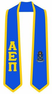 DISCOUNT-Alpha Epsilon Pi Greek 2 Tone Lettered Graduation Sash Stole