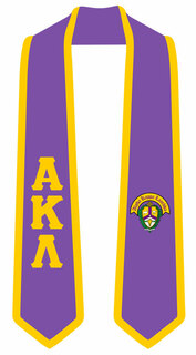 DISCOUNT-Alpha Kappa Lambda Greek 2 Tone Lettered Graduation Sash Stole