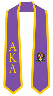 DISCOUNT-Alpha Kappa Lambda Greek 2 Tone Lettered Graduation Sash Stole