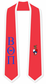 DISCOUNT-Beta Theta Pi Greek 2 Tone Lettered Graduation Sash Stole