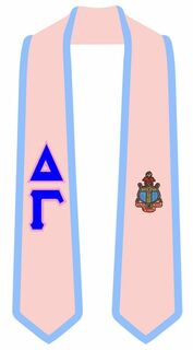 DISCOUNT-Delta Gamma Greek 2 Tone Lettered Graduation Sash Stole