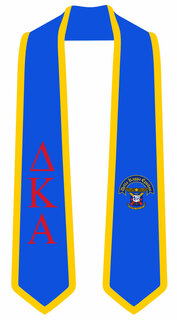 DISCOUNT-Delta Kappa Epsilon Greek 2 Tone Lettered Graduation Sash Stole