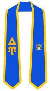 DISCOUNT-Delta Upsilon Greek 2 Tone Lettered Graduation Sash Stole