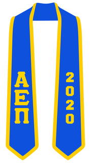 DISCOUNT-Alpha Epsilon Pi Greek 2 Tone Lettered Graduation Sash Stole w/ Year