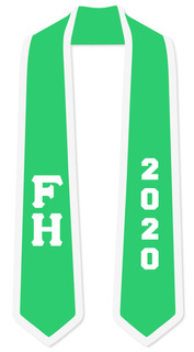 DISCOUNT-FARMHOUSE Greek 2 Tone Lettered Graduation Sash Stole w/ Year