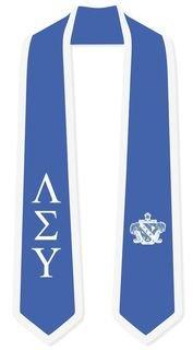 DISCOUNT-Lambda Sigma Upsilon Greek 2 Tone Lettered Graduation Sash Stole