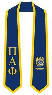 DISCOUNT-Pi Alpha Phi Greek 2 Tone Lettered Graduation Sash Stole