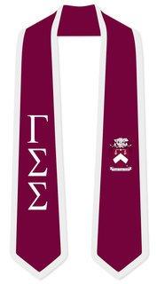 DISCOUNT-Gamma Sigma Sigma Greek 2 Tone Lettered Graduation Sash Stole