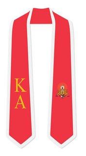 DISCOUNT-Kappa Alpha Greek 2 Tone Lettered Graduation Sash Stole
